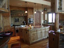 Custom Made Kitchen Island Excellent Custom Made Rustic Alder Cabinets For Large Space