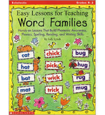 easy lessons for teaching word families by judy lynch