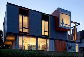 Modern Concrete Home Plans Grey Exterior Color And Glass Windows For Amazing Modern Concrete
