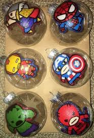 marvel comic ornaments 50 00 via etsy ornaments
