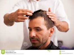 hispanic man getting a haircut stock photo image 39930197