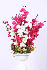 buy home decor great artificial flowers with pot best quality