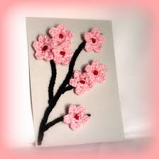 Wall Art Images Home Decor Cherry Blossom Art Pink Cherry Blossom Crochet Wall Art Crochet