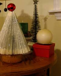 of sage and sepia making christmas trees from books