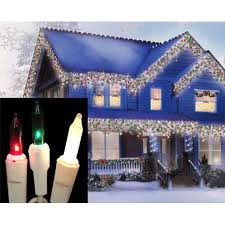 set of 100 red green u0026amp frosted white mini icicle christmas