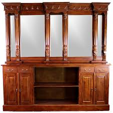 Bar Hutch 8 U0027 Antique Replica Mahogany Victorian Front U0026 Back Home Bar Sale