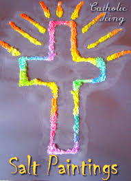 Easter Decorations For A Church by 49 Crafts The Celebrate The Cross Salt Painting Easy Cross And