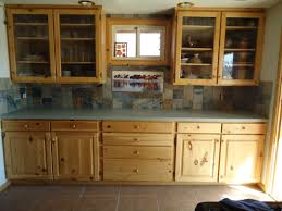 highly regarded clear glass door pine wood kitchen cabinet added