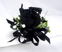 and black corsage corsage wrist corsage bracelet black wedding wristlet