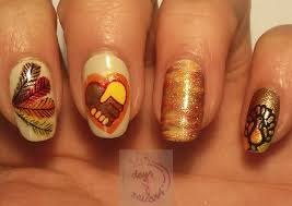 happy thanksgiving day nail gallery