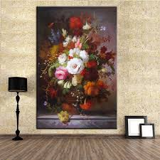 best dpartisan print no 294 flower wall painting amazing oil