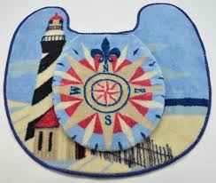 Lighthouse Bathroom Rugs Lighthouse Bathroom Rug And Nautical Toilet Cover
