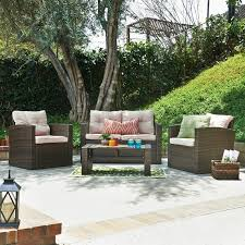 Home Design Furniture Kendal Ebern Designs Kendal Belleze 4 Piece Deep Seating Group With