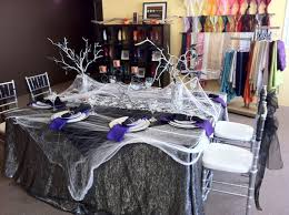 mesh ribbon table decorations captivating scary home halloween party decorations ideas decorating