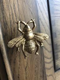 replacement kitchen cupboard door knobs bumble bee draw pull cupboard door knob handle upcycle replacement kitchen bathroom craft golden gold vintage hive bee