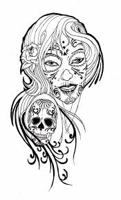 sugar skull coloring pages in for adults itgod me