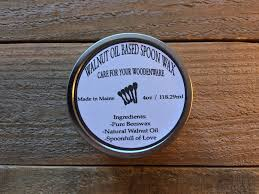 natural walnut oil based spoon wax butcher block wax cutting natural walnut oil based spoon wax butcher block wax cutting board oil wooden spoon paste made in maine usa