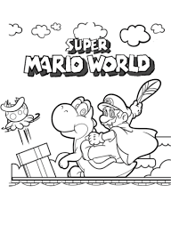 super mario world coloring page free printable coloring pages