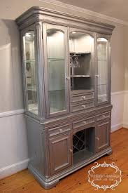 silver china cabinet bar wine cabinet distressed rustic chic