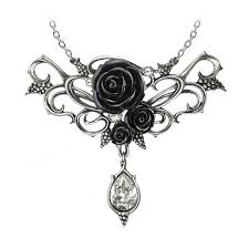 black rose pendant necklace images Bacchanal rose necklace alchemy gothic pewter pendant jewelry p700 jpg
