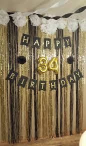 black white and gold surprise birthday party decor birthdays
