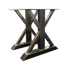 heavy duty table legs trestle leg dining table dining table height 1 2 tall metal trestle