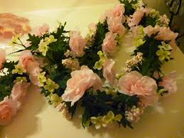 writing straight from the heart pink rose garland for the