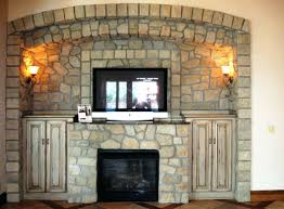 stacked stone veneer fireplace accessories cost panels home depot