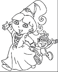 dora friends coloring pages games princess printable