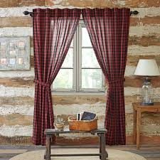 Cabin Style Curtains Cumberland Log Cabin Check Lined Curtain Panels Log Cabin Decor
