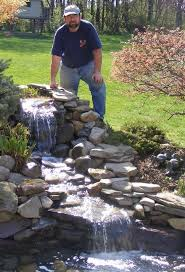 small backyard waterfalls modern outdoor fountains and ponds kits