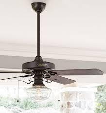 industrial ceiling fan light kit rejuvenation heron ceiling fan with clear ogee shade oak plywood