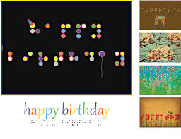 Samples Of Birthday Greetings Inbraille Greeting Cards The Chicago Lighthouse