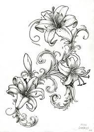 tattoo flower drawings magnificent white lily flower tattoo contemporary wedding and