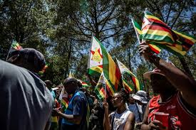 Flag Of Zimbabwe Robert Mugabe Refuses To Quit As Zimbabweans March For His Ouster