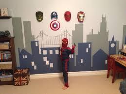 kids room fantastic spiderman marvel theme wallpaper kids room