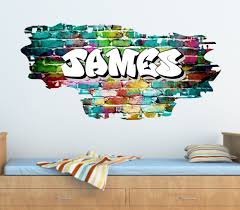 Personalized Name Wall Decals For Nursery by Personalised Graffiti Brick U0026 Name Wall Sticker Decal Graphic
