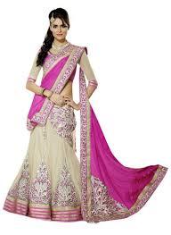 Buy Violet Embroidered Art Silk Buy Triveni Pink Art Silk Net Wedding Embroidered Bollywood