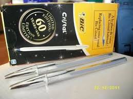 60th anniversary plates 10 bic pens limited edition 60th anniversary silver plate