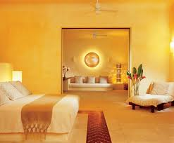 bedroom with gold yellow bold color decorating your house with