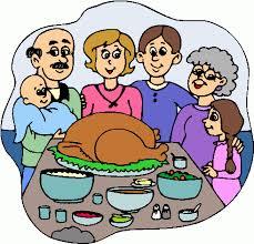 dinner thanksgiving family clipart clipartix