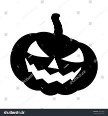 halloween pumpkin silhouette vector illustration jack stock vector