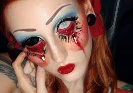 scary face makeup for halloween face makeup ideas