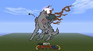 okami amaterasu pixel art in minecraft by reedim on deviantart