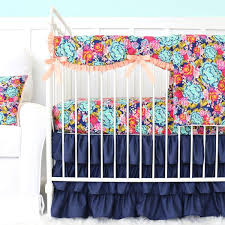 Girly Crib Bedding Navy Blue Crib Bedding Caden Tagged Crib Sets