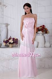 light pink dama dresses light pink strapless beading bridesmaid dama dresses floor length