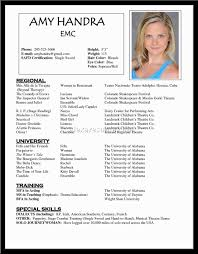 Actor Resume Format Resume Actor Resume Samples