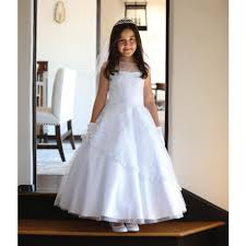 communion dress garment big white detailed mesh communion dress 7 18