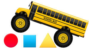 bus monster truck videos monster truck buses teaching shapes crushing shapes