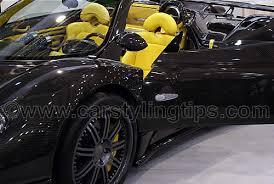 Pagani Zonda Interior Yellow Leather Car Seats In A Pagani Zonda Carbon